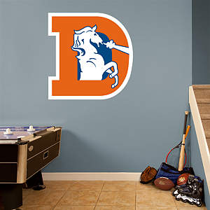Denver Broncos Classic Logo Fathead Wall Decal
